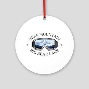Bear Mountain - Big Bear Lake - C Round Ornament