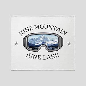 June Mountain - June Lake - Califo Throw Blanket