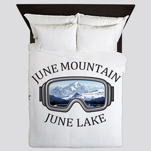 June Mountain - June Lake - Californ Queen Duvet