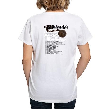 Bachelorette Checklist Women's V-Neck T-Shirt