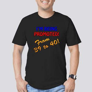 40th Bday Promotion Men's Fitted T-Shirt (dark)