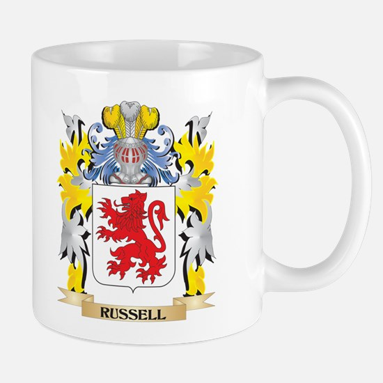 Russell Family Crest - Coat of Arms Mugs