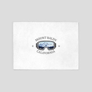 Mount Baldy Ski Lifts - Mount Bal 5'x7'Area Rug