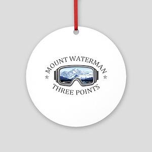 Mount Waterman - Three Points - C Round Ornament