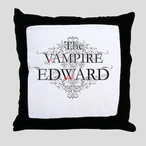 The Vampire Edward Throw Pillow