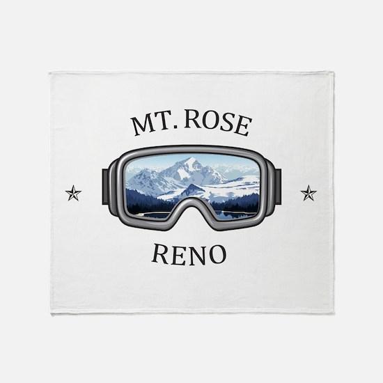Mt. Rose - Reno - Nevada Throw Blanket