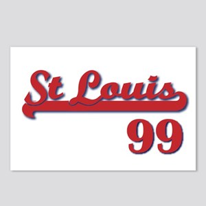 99 - Red/Blue STL Postcards (Package of 8)