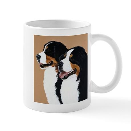 """Bernese Mountain Dogs """"Pair"""" Mug"""