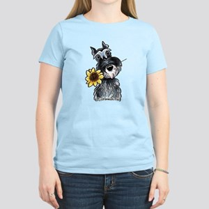 Sunflower Schnauzer Women's Light T-Shirt