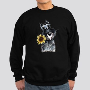 Sunflower Schnauzer Sweatshirt (dark)