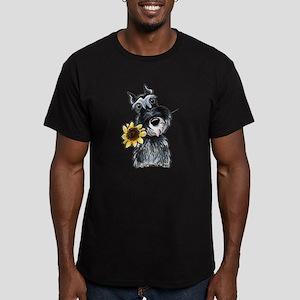 Sunflower Schnauzer Men's Fitted T-Shirt (dark)