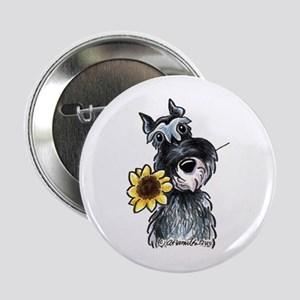 "Sunflower Schnauzer 2.25"" Button"