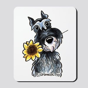 Sunflower Schnauzer Mousepad