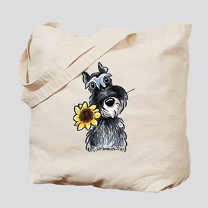 Sunflower Schnauzer Tote Bag