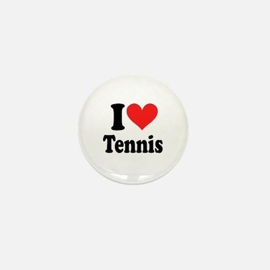 I Heart Tennis Mini Button