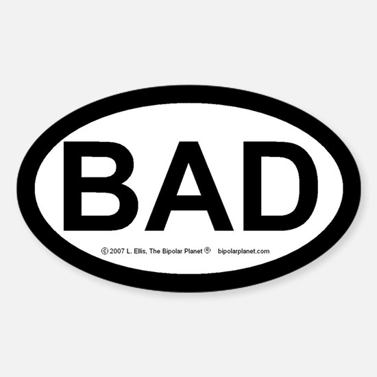 BAD Sticker (Oval)