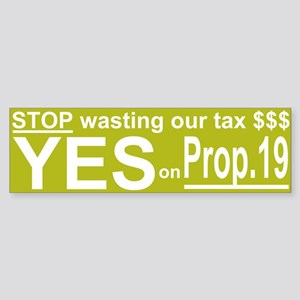 Prop 19 Sticker (Bumper)