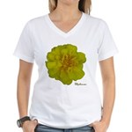 Marigold Flower Women's V-Neck T-Shirt