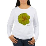 Marigold Flower Women's Long Sleeve T-Shirt