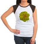 Marigold Flower Women's Cap Sleeve T-Shirt