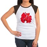 Geranium Flower Women's Cap Sleeve T-Shirt