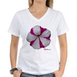 Petunia Flower Women's V-Neck T-Shirt