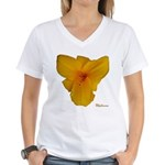Lily Flower Women's V-Neck T-Shirt