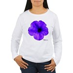 Petunia Flower Women's Long Sleeve T-Shirt