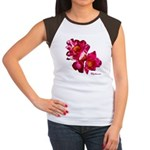 Peony Flower Women's Cap Sleeve T-Shirt