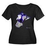 Iris Flower Women's Plus Size Scoop Neck Dark T-Sh