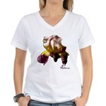 Iris Flower Women's V-Neck T-Shirt