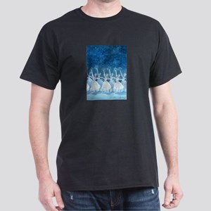 Dance of the Snowflakes Ballet Black T-Shirt