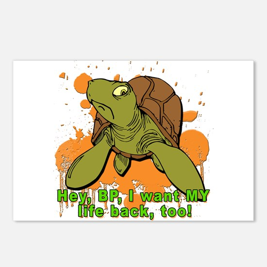 TURTLE I Want MY Life Back Postcards (Package of 8