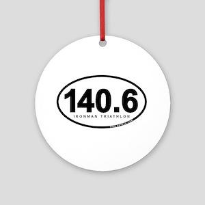 140.6 Ironman Triathlon Ornament (Round)