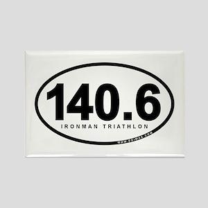 140.6 Ironman Triathlon Rectangle Magnet