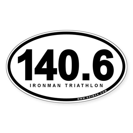 140.6 Ironman Triathlon Sticker (Oval)