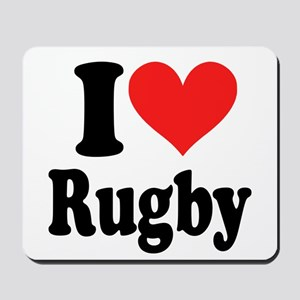 I Love Rugby Mousepad