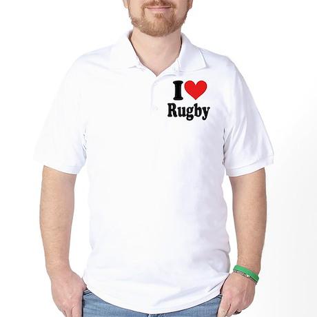 I Love Rugby Golf Shirt