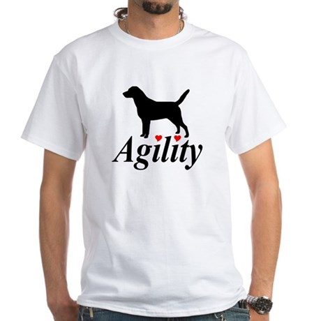 """Labs Love Agility"" White T-Shirt"