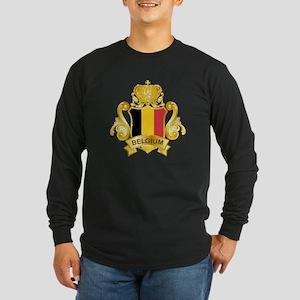 Gold Belgium Long Sleeve Dark T-Shirt