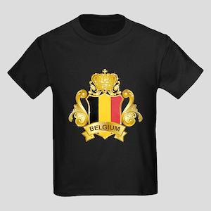Gold Belgium Kids Dark T-Shirt