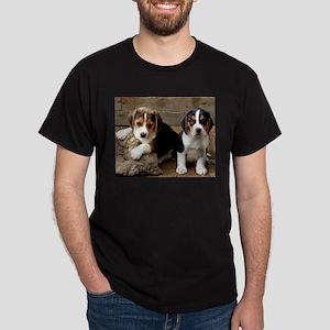 Beagle Pair Black T-Shirt