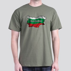 Map Of Bulgaria Dark T-Shirt