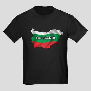 Map Of Bulgaria Kids Dark T-Shirt