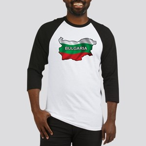 Map Of Bulgaria Baseball Jersey