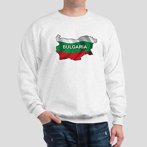 Map Of Bulgaria Sweatshirt