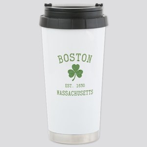 Boston Massachusetts Stainless Steel Travel Mug