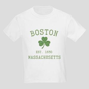 Boston Massachusetts Kids Light T-Shirt