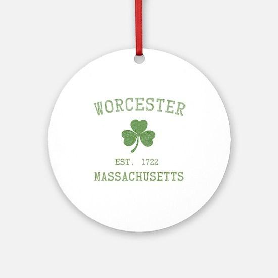 Worcester Massachusetts Ornament (Round)
