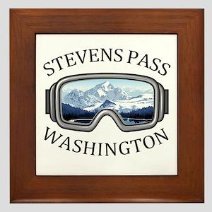 Stevens Pass Ski Area - Stevens Pass Framed Tile